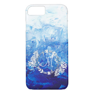 Abstract Painting iPhone case with Monogram