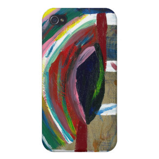 Abstract painting on  iPhone 4/4S cover