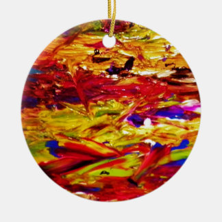 Abstract Painting Round Ceramic Decoration