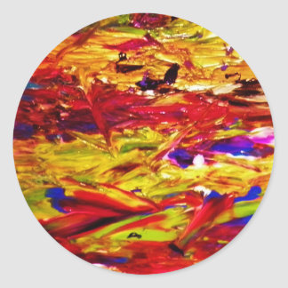 Abstract Painting Round Sticker