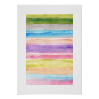 abstract painting stripes poster