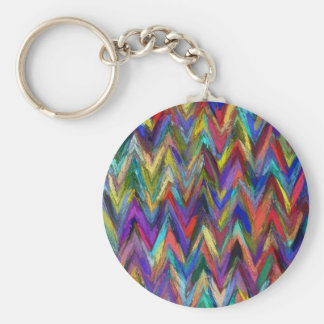 Abstract painting styled background basic round button key ring