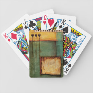 Abstract Painting with Piano Keys Bicycle Playing Cards