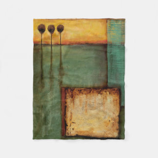 Abstract Painting with Piano Keys Fleece Blanket