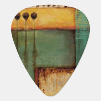 Abstract Painting with Piano Keys Guitar Pick