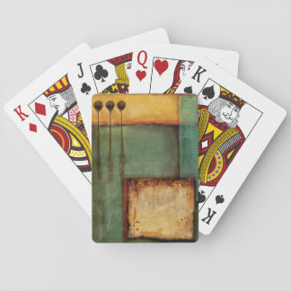 Abstract Painting with Piano Keys Playing Cards