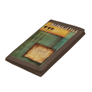 Abstract Painting with Piano Keys Trifold Wallet
