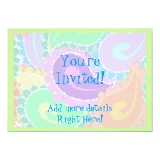 Abstract Paisley 13 Cm X 18 Cm Invitation Card