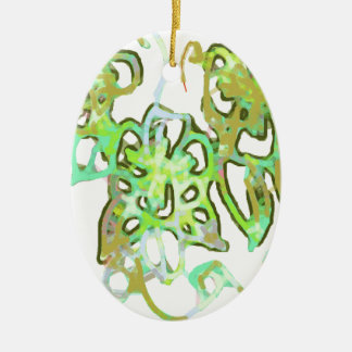 abstract paisley christmas tree ornaments