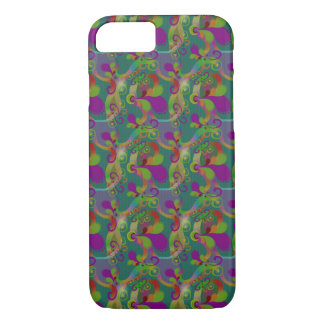Abstract Paisley Swirls Design-Apple iPhone 7 Case