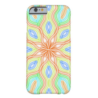 Abstract Pale Neon Rainbow Flower Barely There iPhone 6 Case