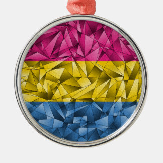 Abstract Pansexual Flag Silver-Colored Round Decoration