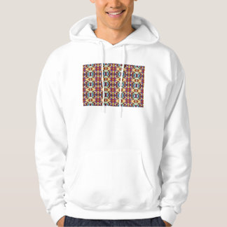 Abstract Pansy Flower Fractal Hoodie