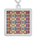 Abstract Pansy Flower Fractal Pendants