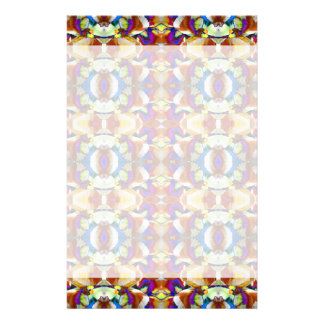 Abstract Pansy Flower Fractal Stationery