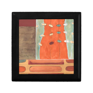 Abstract Parade of Eggs by Erica J Vess Small Square Gift Box