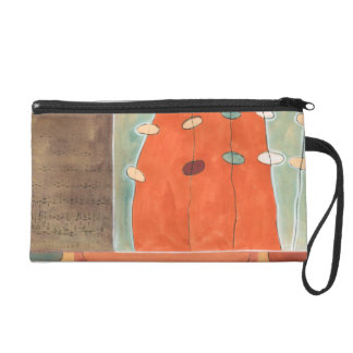 Abstract Parade of Eggs by Erica J Vess Wristlet Clutch