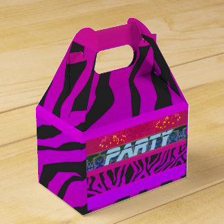 Abstract party background: zebra, Favour Box