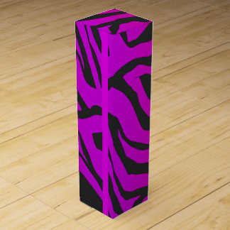Abstract party background: zebra, Wine Gift Box