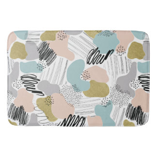 Abstract Pastel Bathmat