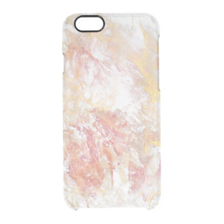 Abstract pastel colors clear iPhone 6/6S case