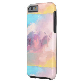 Abstract pastel colors tough iPhone 6 case