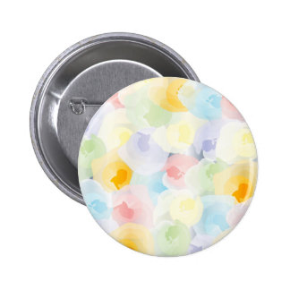 Abstract Pastel Floral 6 Cm Round Badge