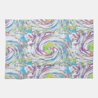 "Abstract Pastel Kitchen Towel 16"" x 24"""