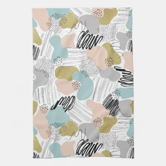 Abstract Pastel Tea Towel