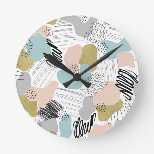 Abstract Pastel Wall Clock