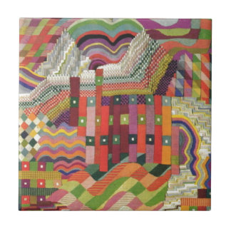 ABstract patchwork design Small Square Tile