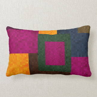Abstract Patchwork Mosaic Tiles Pattern, Lumbar Cushion