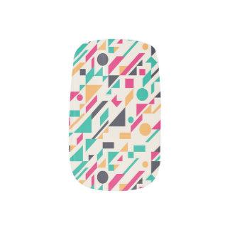 Abstract pattern 3 minx nail art