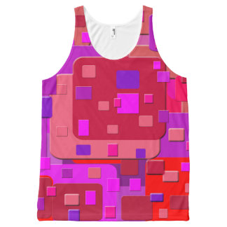 Abstract Pattern All-Over Print Tank Top