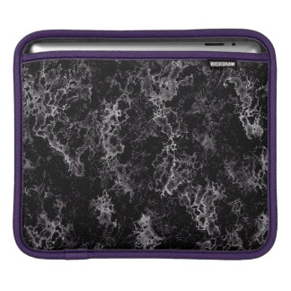 Abstract Pattern Black And White Haze iPad Sleeve