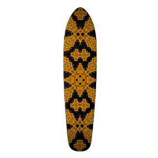 Abstract Pattern black orange Skateboard