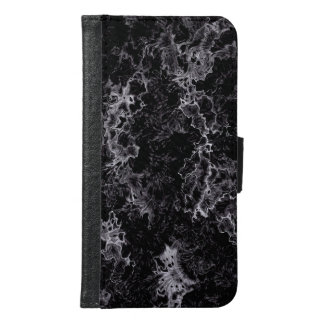 Abstract pattern black samsung galaxy s6 wallet case