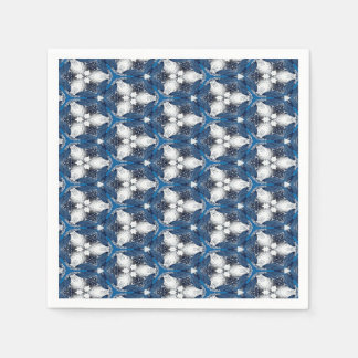 Abstract Pattern Blue A Disposable Napkins