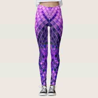 Abstract Pattern Blue and Purple Ombre Leggings