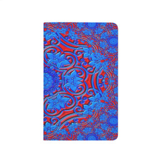 Abstract Pattern Blue And Red Background Journal