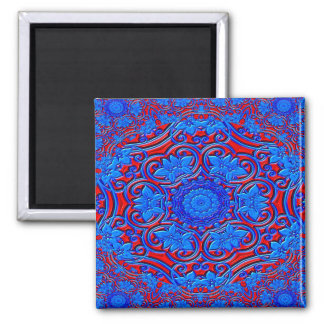 Abstract Pattern Blue And Red Background Magnet
