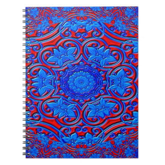 Abstract Pattern Blue And Red Background Notebook