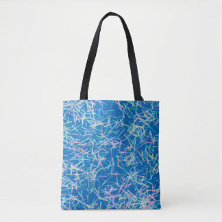 Abstract Pattern Blue And White And Pink Tote Bag