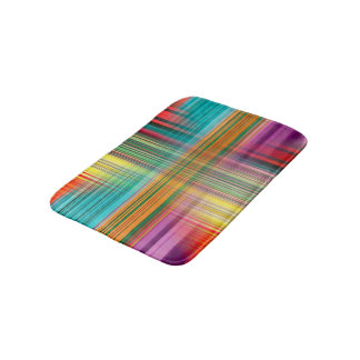 Abstract Pattern Blue And White Background Bath Mat