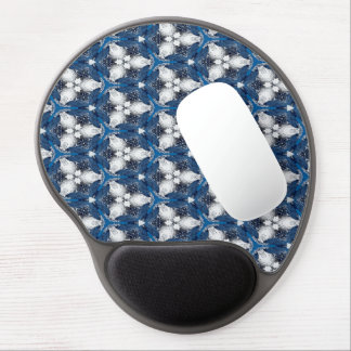 Abstract Pattern Blue And White Background Gel Mouse Mat