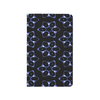 Abstract Pattern Blue And White Background Journal