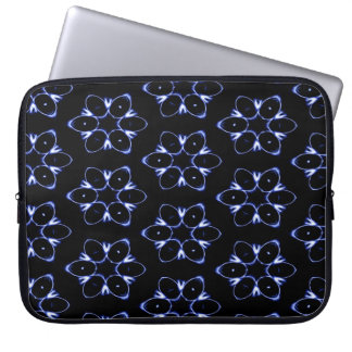 Abstract Pattern Blue And White Background Laptop Sleeve