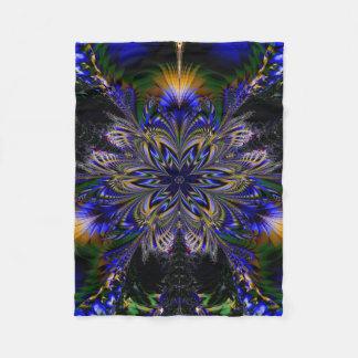 Abstract Pattern Blue Background Fleece Blanket