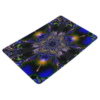 Abstract Pattern Blue Background Floor Mat