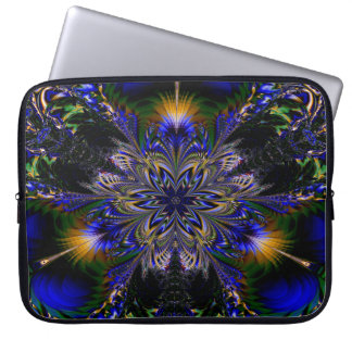 Abstract Pattern Blue Background Laptop Sleeve